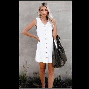 NWOT! Vici Beach Please Button Down Tank Dress